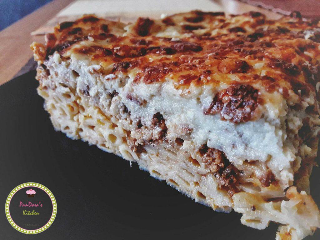 παστίτσιο-ελληνική συνταγή-κιμάς-μακαρόνια