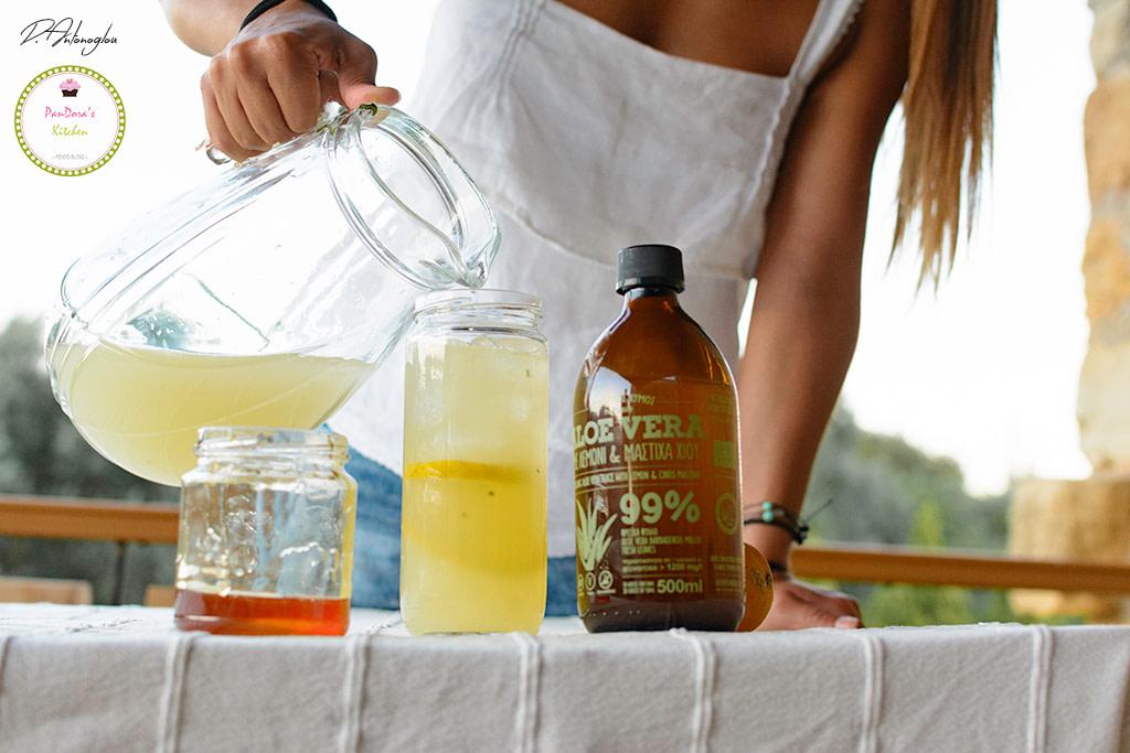 αλόη-λεμονάδα-μαστίχα-λεμόνι-μέλι-τζίντζερ