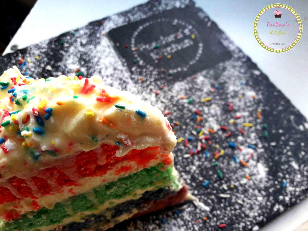 τούρτα ουράνιο τόξο, γενέθλια, κέικ, τούρτα, rainbow cake