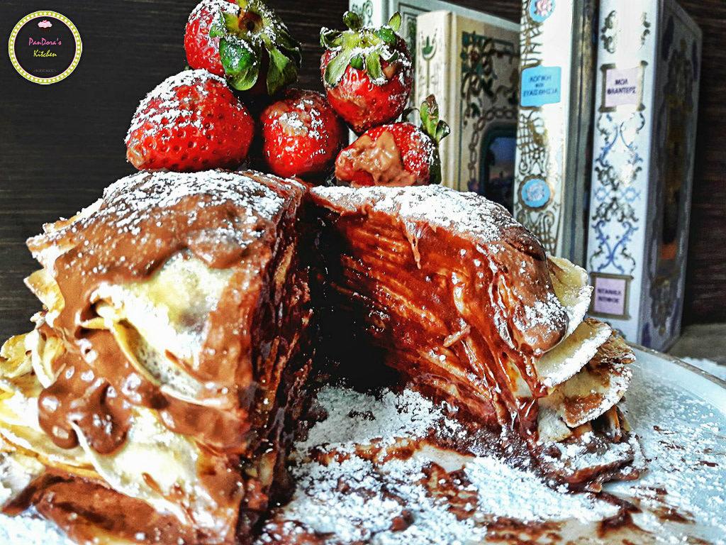 κρέπα-μερέντα-νουτέλα-τούρτα