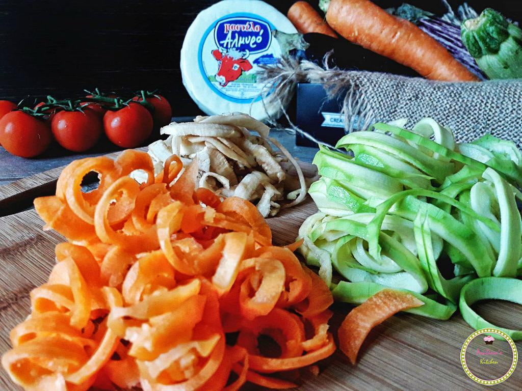 spiral-spiralizer-pasta-linguine-mastelo-cheese-chios-pandoras kitchen